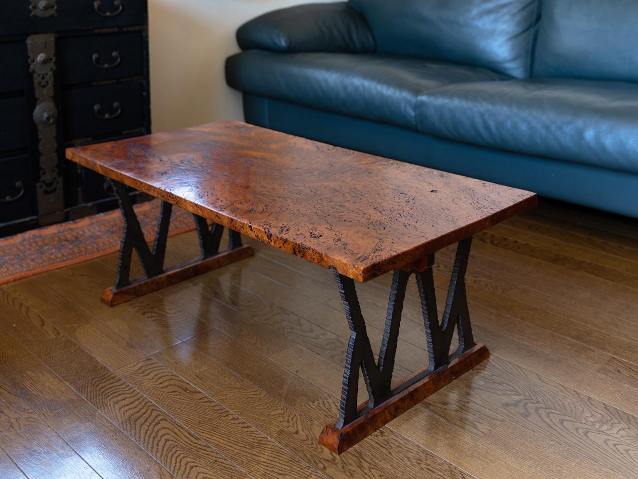 欅針杢ソファーテーブル