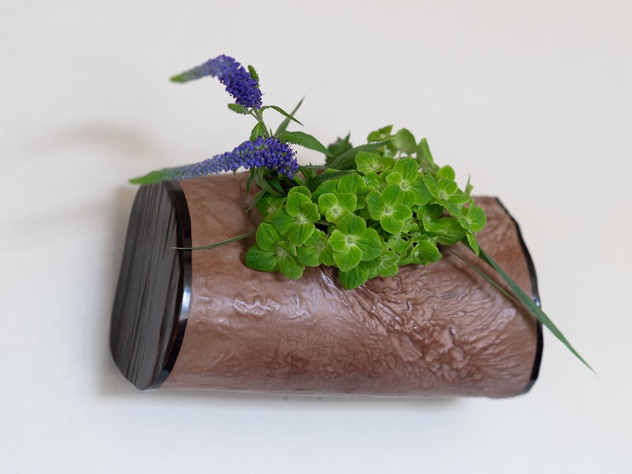 太鼓形の木皮掛花