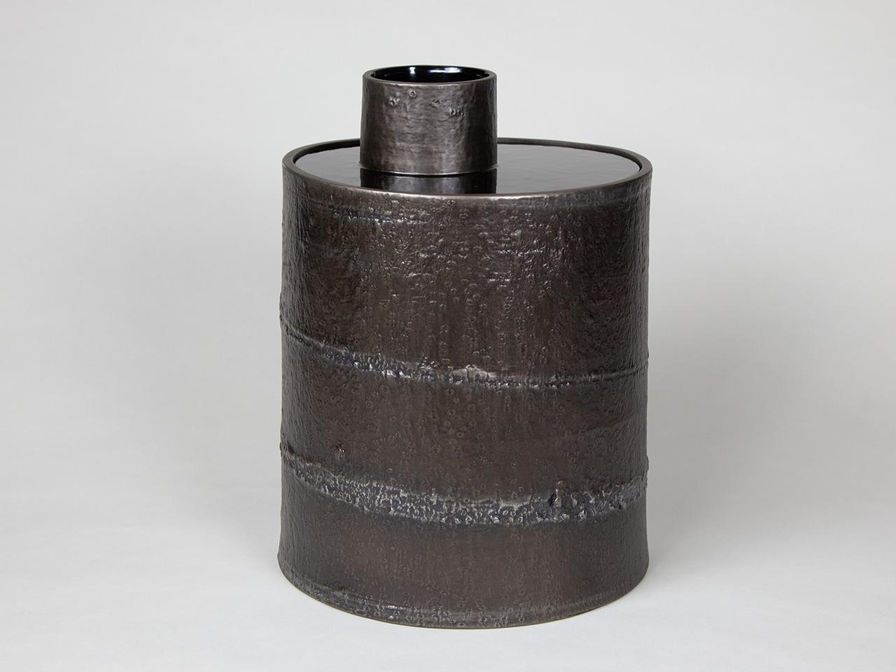 錫蒔き 木皮花器 ― 森羅 ―