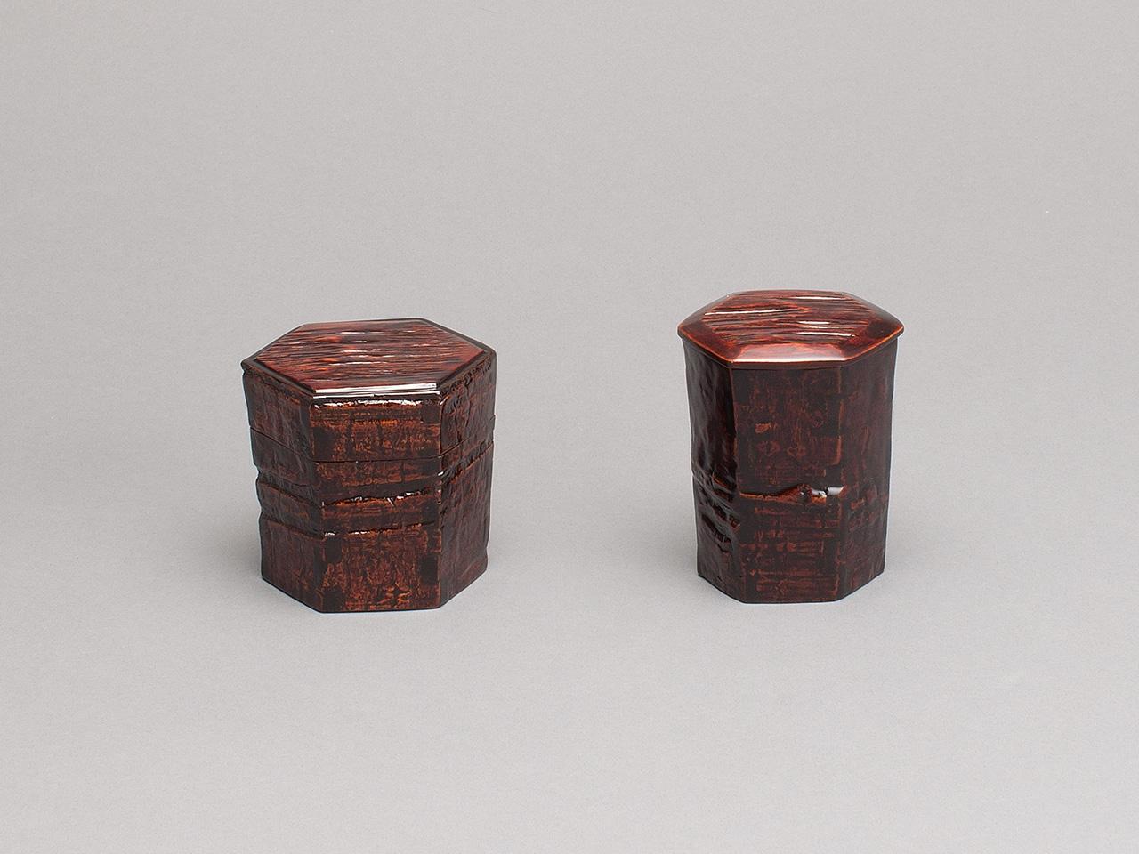 木皮組 茶器 / 木皮組 金輪寺茶器