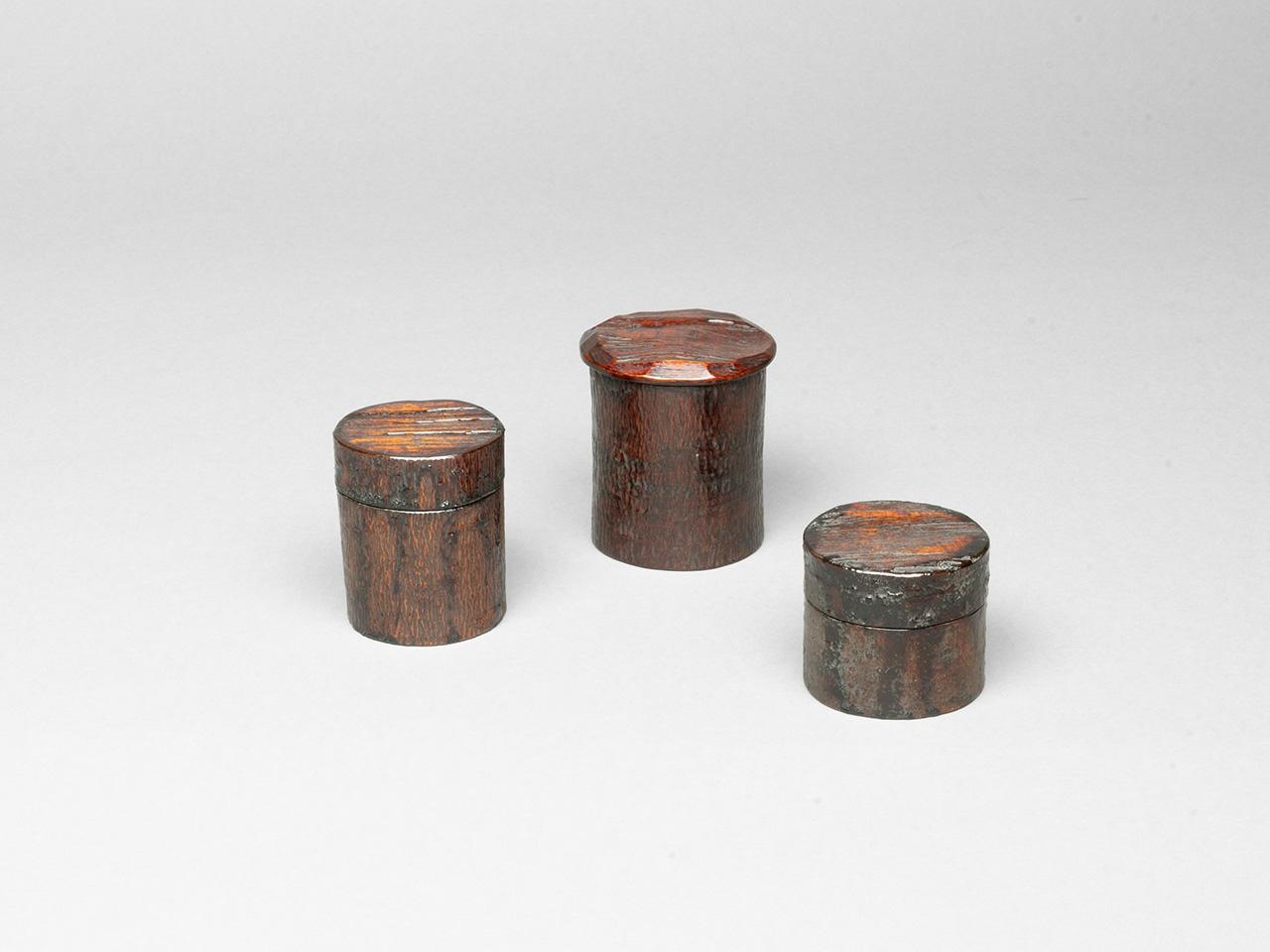 木皮茶器 (流しかけ 蔦蒔き跡)