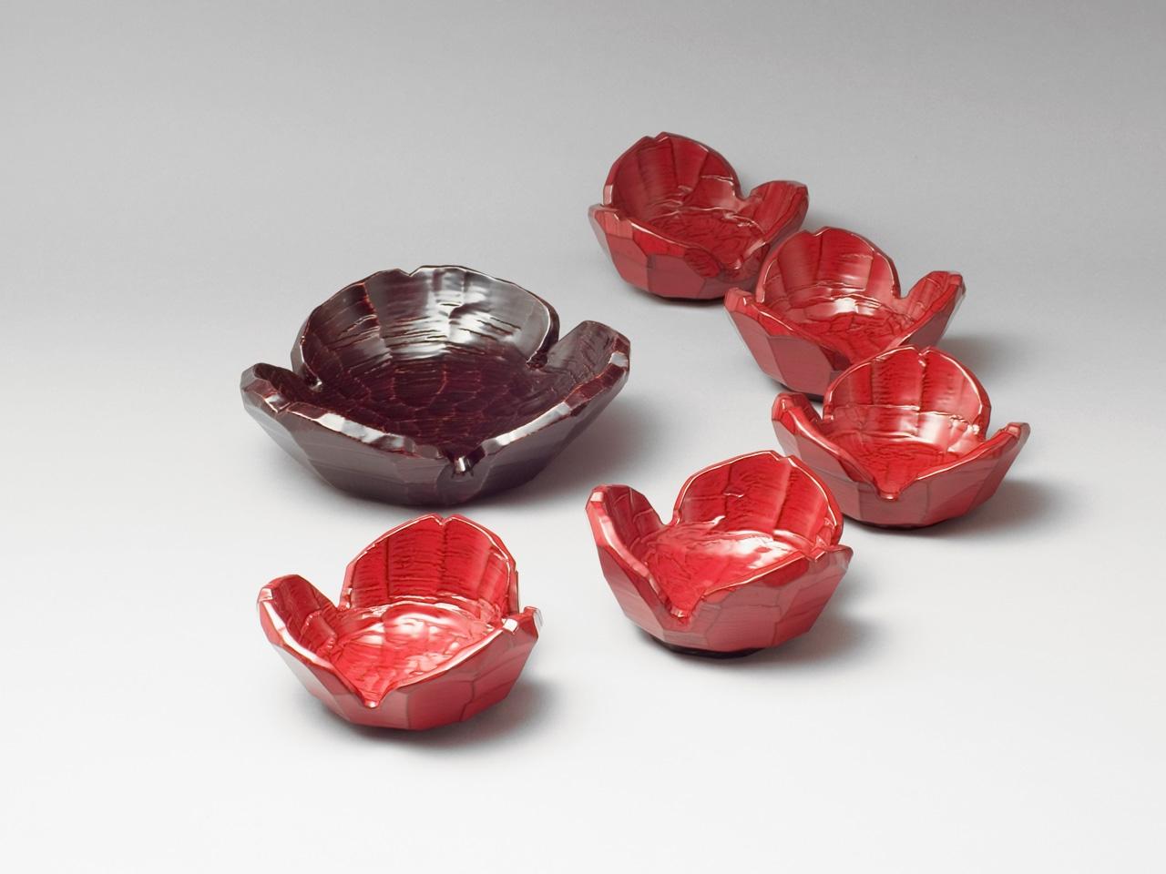 溜塗割山椒盛鉢