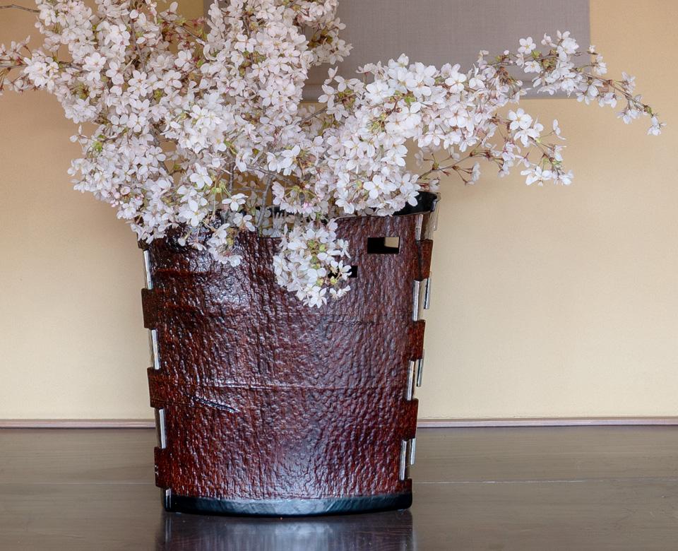 木皮組 花器 ― 森船―