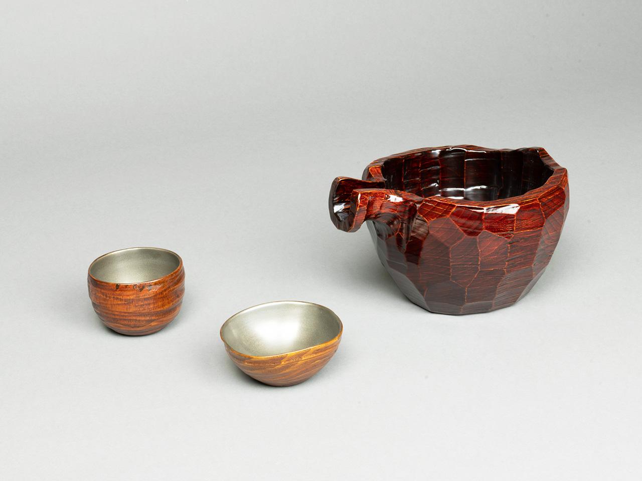 透金漆塗片口 (内・溜塗)