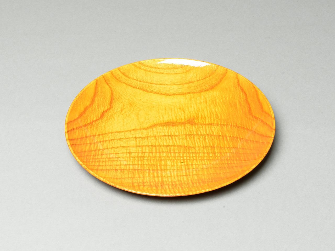 漆縮杢 金漆塗菓子皿