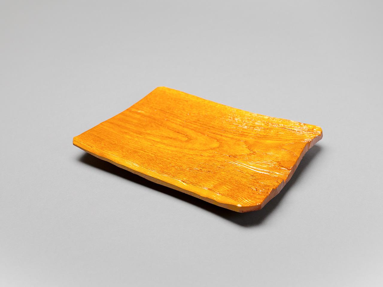 漆木ヘギ目 金漆塗菓子皿