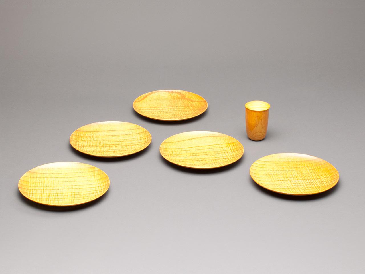 漆縮杢金漆塗銘々皿